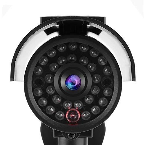 Snufeve6 Molde de cámara, luz LED para Exteriores simulada Que Ahorra energía, cámara de Seguridad Falsa con energía Solar, cámara de Monitor de imitación para la Oficina del Sistema de Seguridad de