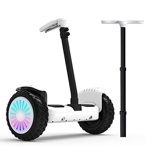 Patinetes Acrobacias Electricos Adultos Ninas Adolescentes Scooter Autoequilibrado 500w Inteligente Todoterreno,White