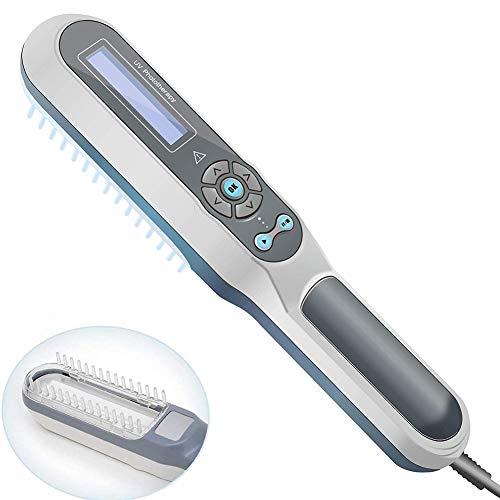 Qwhone De Mano fototerapia UVB Fototerapia en el hogar de la lámpara Fluorescente con Pantalla LCD de Control Temporizador Digital con los anteojos