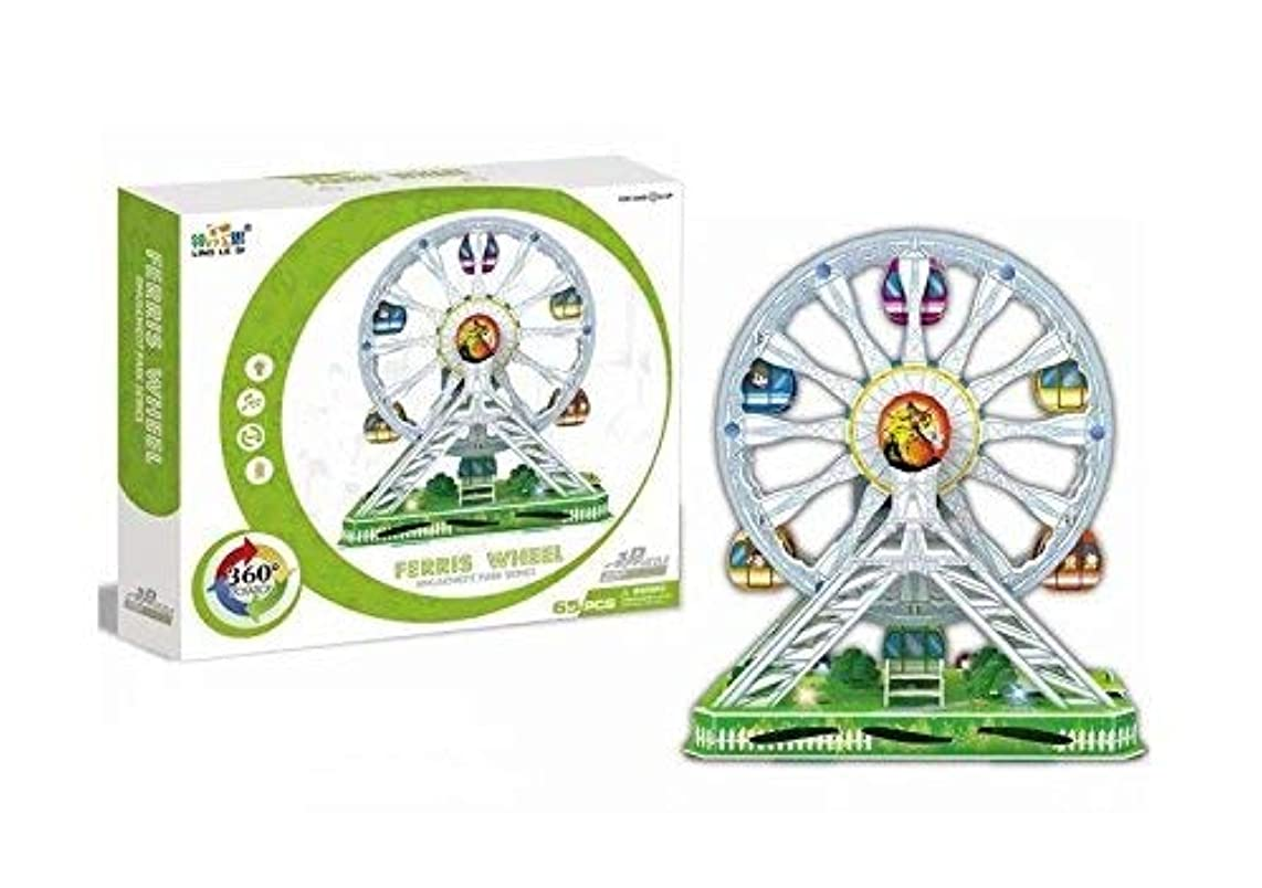 Big Daddy's 3-D Puzzel Building Set, Amusement Park Series With Lights, Sound , And Movement. Take Your Imagination On A Ride, Create a Ferris Wheel