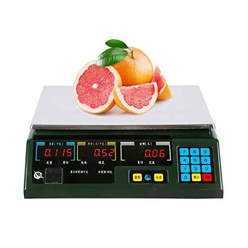 ZCY Elektronische weegschaal, LCD-achtergrondverlichting, display commerciële 30 kg/10 g precisie wegen, grappige groente en fruit