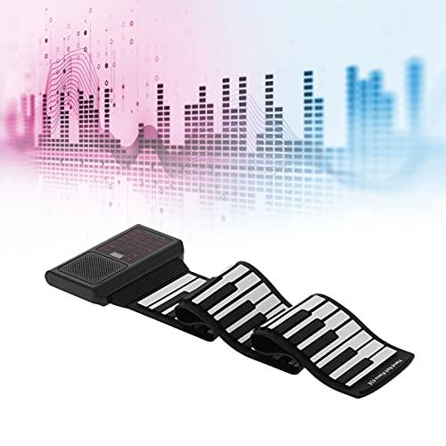 Pianos digitales domésticos, piano enrollado a mano de 61 teclas Función de protección de 128 tonos y ritmos con cable USB para tocar