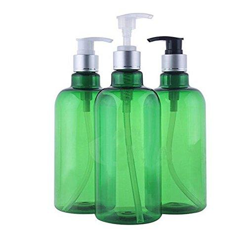 3 pcs 500 ml rechargeables Pompe à vide Plastique Pet bouteilles bocaux avec pompe TOPS pour cosmétique de maquillage de bain douche conteneurs