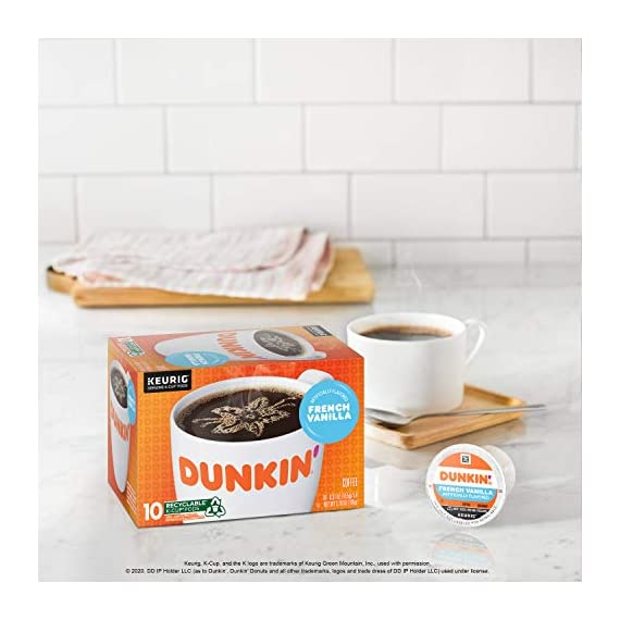 Dunkin' Best Sellers Coffee Variety Pack, 60 Keurig K-Cup Pods 8 Contains 4 boxes of 32 K-Cup pods (128 count total) Original Blend is the coffee that made Dunkin' famous, featuring a rich, smooth taste unmatched by others Medium roast coffee, specially blended and roasted to deliver the same great taste as the brewed Dunkin' coffee available in Dunkin' shops