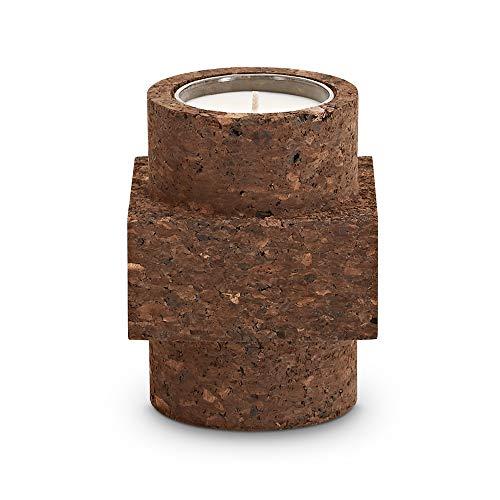 Tom Dixon Materialism Medium | Luxe Verbrande Suiker & Rokerige Hout Mooie Natuurlijke Stijl Kamer Kaars | Top geurnoten van Leer | Ideaal Cadeau-Kurk, Bruin