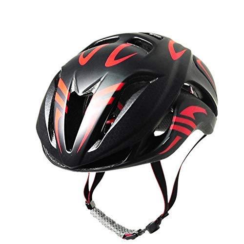 Casco de bicicleta, casco de ciclismo de carretera Túnel Casco Negro Y...