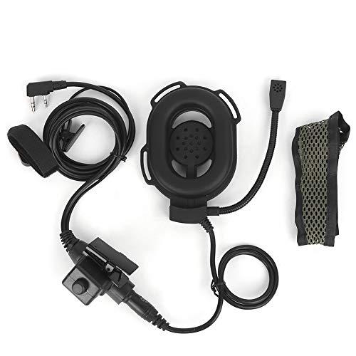 DAUERHAFT Walkie Talkie - Auriculares de perfil bajo diseñado PTT, para actividades al aire libre como airsoft, caza, paintball