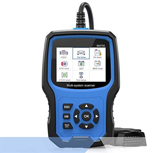QQGGTongFeng BM700 Sistema Completo OBD2 Scanner Automotriz Lector de código de Aceite Batería de Aceite EPB Airbag TPMS Restablecer Herramienta de diagnóstico de automóvil para BMW Mini Herramientas