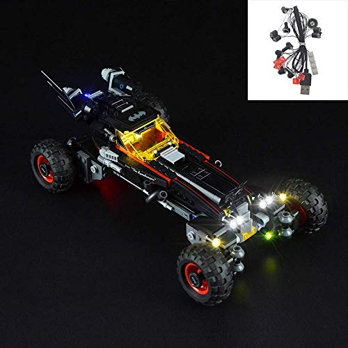 YLJJ Juego de Luces LED USB DIY Compatible con Lego Batman Movie The Batmobile 70905, Kit de Luces LED para Bloques de construcción (Batman Movie The Batmobile) Modelo niños (No Inc