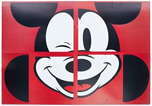 Painel R323 Mickey 90 Anos - Pacote Com 01 Un Regina Colorido