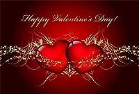 HDバレンタインs日の背景7x5ftビニール巨大な赤いハート星空の赤い写真の背景恋人の肖像画結婚式の撮影スタジオの小道具幸せなバレンタインs日の壁紙