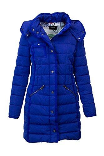 Desigual Lange Daunenjacke Damen Small Blau