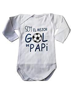 Body Bebé frase SOY EL MEJOR GOL DE PAPI Body algodón Regalo recien nacido (1 MES, MANGA LARGA)