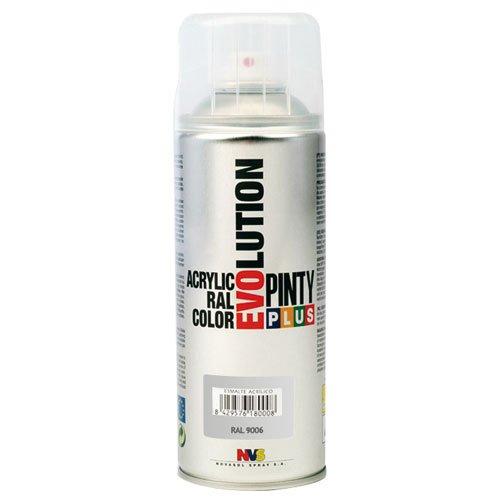 Evolution pinty color M123012 - Pintura spray acrilica 520 cc plata