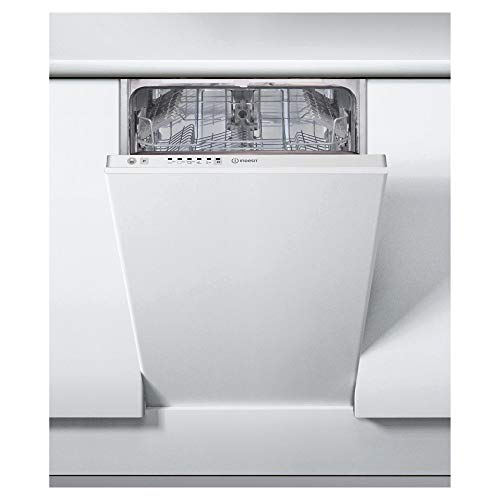 INDESIT DSIE2B10 10 Place Slimline Fully Integrated Dishwasher with Quick Wash - White