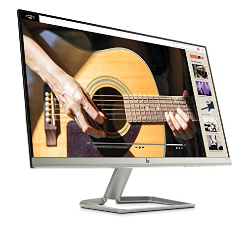 HP 27FW - Monitor Full HD de 27' (1920 x 1080, panel IPS LED, 16:9, HDMI 1.4, 5 ms, 60 Hz, AMD FreeSync, Altavoces incorporados), Color Blanco, Clase A +