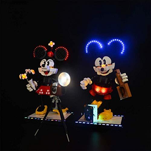 LODIY Beleuchtung Lichtset für Lego 43179 Micky Maus und Minnie Maus, LED Beleuchtungsset Kompatibel mit Lego 43179 (Nicht Enthalten Lego Modell)