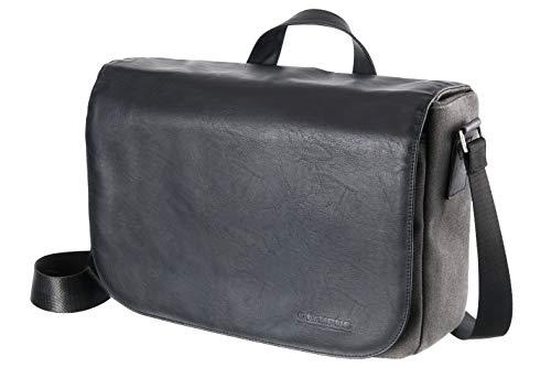 OLYMPUS OM-D Messenger - Bolso de piel y lona, color negro