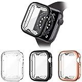 HAPAW Protector de Pantalla Compatible con Apple Watch SE/Series 6/Series 5/Series 4 44mm, [3 paquetes] Funda Protectora de Cobertura Total de TPU Suave Compatible con iWatch Series SE/6/5/4 44mm