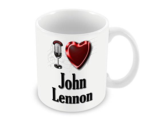 Chalkhill Printing Company CP PopMale_007 Pop Artist - Taza (macho), diseño con texto en inglés'I Love John Lenn'