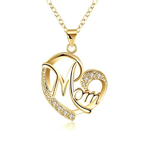 SALAN Mother's Day Necklace Fashion Mom Letter Love Necklace Charms Pendant Necklace The Best Gift For Mother