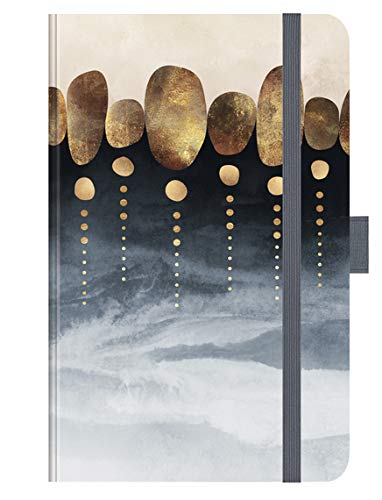 Premium Timer Small Natural Abstraction - Kalender 2021 - Korsch-Verlag - Taschenkalender A6 mit Stifthalter, Lesebändchen und Zetteltasche - eine Woche auf 2 Seiten - Buchkalender 8,8 cm x 13,8 cm