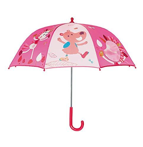 Lilliputiens 86896 Louise Regenschirm für Kinder, rosa, 75x68 cm