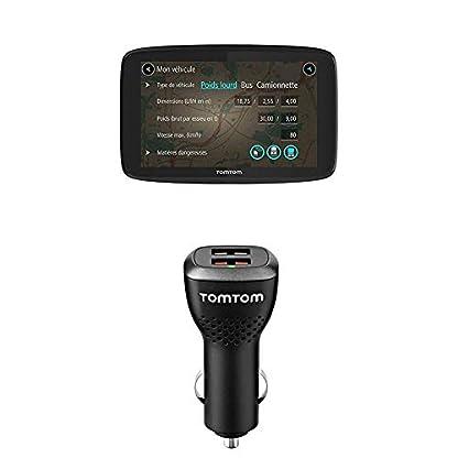 TomTom-GO-Professional-520-LKW-Navigationsgeraet-Updates-ueber-Wi-Fi-127-cm-5-Zoll-Smartphone-Benachrichtigungen-Duales-USB-Auto-Schnellladegeraet-geeignet-fuer-alle-TomTom-Navigationsgeraete