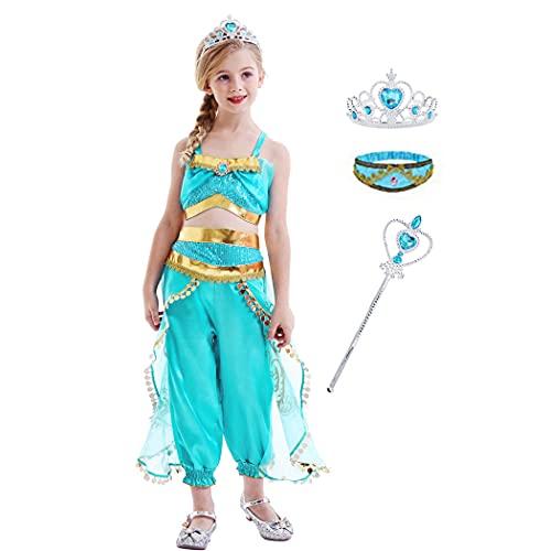 WonderBabe Jasmine Dress Up for Girls Princess...