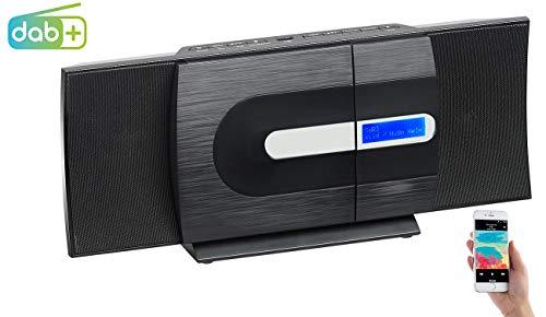 auvisio Musikanlage: Vertikale Design-Stereoanlage, FM/DAB+, Bluetooth, CD, MP3, AUX, 40 W (Kompaktanlage DAB+ Vertikal Design)