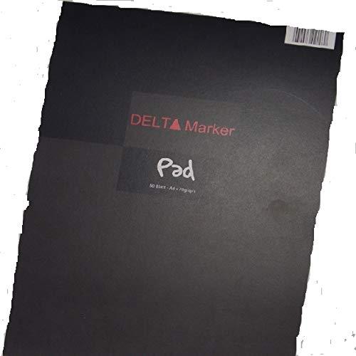 R-9049-2 - 2 Stück : ROTBART - Delta Marker / Mangablock DIN A4 - 50 Blatt - 70 g/m² - Layoutpapier für Marker auf Alkoholbasis. Feinstes Papier - hauchdünn - zum Durchkopieren. Hier 100% Service plus 100% Qualität!!!