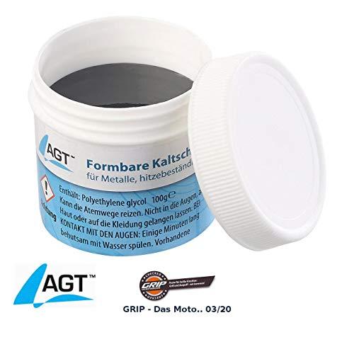 AGT Flüssigmetall: Kaltschweißmasse für Metalle, hitzebeständig bis 1.100 °C, 100 g (Flüssigmetall hitzebeständig)