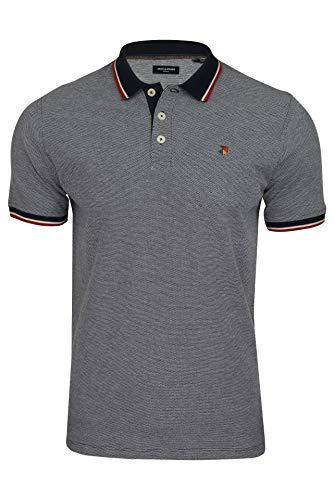Jack & Jones JPRBLUWIN Polo SS STS Camisa, Moodindigo, M para Hombre