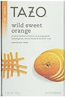 Tazo Wild スイートオレンジハーブティー、20個入りボックス1.5オンス(3個パック)