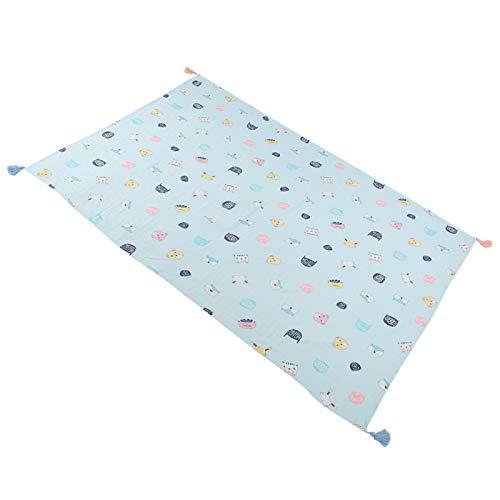 SALUTUYA Toalla de baño Infantil no pegajosa, para recién Nacidos(Blue Fox, 110 * 158cm)