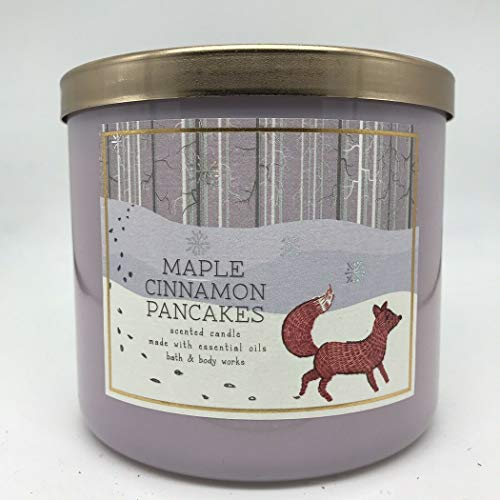 White Barn Bath and Body Works Maple Cinnamon Pancakes Scented Candle 3 Wick Large 14.5 OZ