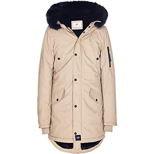 Sixth June Herren Parkas Fur beige L