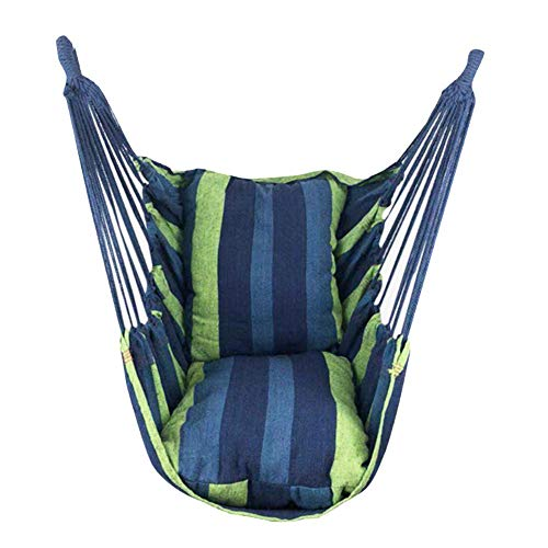 aheadad Silla colgante con cuerda columpio de tela, silla columpio, cuerda suspendida, para porche, silla hamaca de jardín para patio, dormitorio, patio, porche, interior, exterior