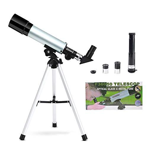 Elescopio Astronómico Zoom HD al Aire Libre Monocular Espacio Telescopio con Trípode Telescopio terrestre para Niños, Principiantes