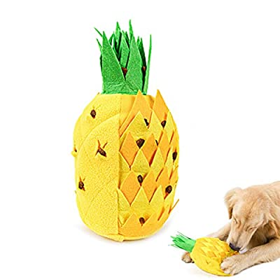 Dog Toys,Pet Dog Snuffle Mat Pineapple Pet Sniffing Training Toy Fleece Pads Dog Mat Relieve Stress Nosework Puzzle Toy Pet Products