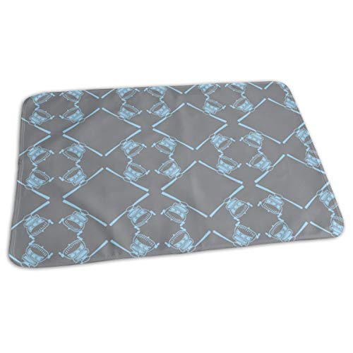 Zwarte Hawk Baby Blauw Op Grijs Bed Pad Wasbaar Waterdichte Urine Pads voor Baby Peuter Kinderen en Volwassenen 27.5 x19.7 inch