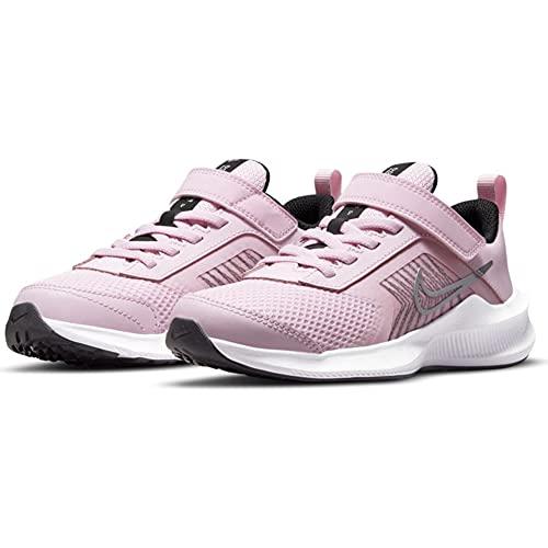Nike Downshifter 11 PSV, Scarpe da Ginnastica Unisex-Bambini, Pink Foam/Mtlc Silver-Black-White, 30 EU