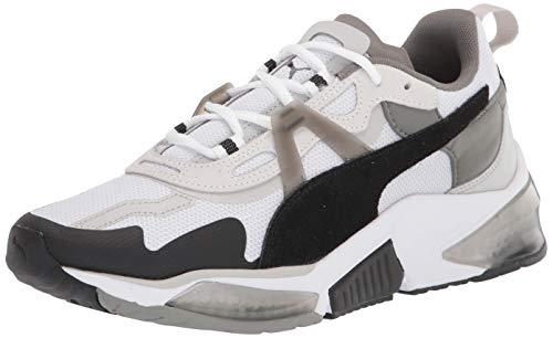 PUMA Tênis unissex adulto Lqdcell óptico Cross Trainer, Puma branco-puma preto-cinza violeta, 13.5 Women/12 Men