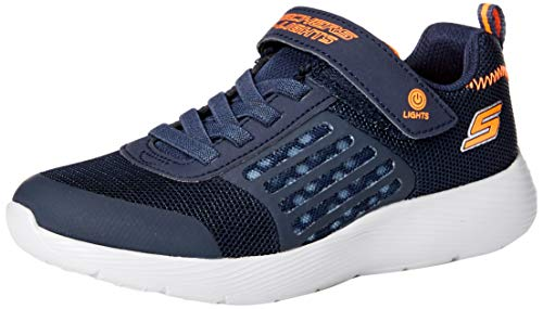 Skechers Jungen Equalizer 3.0 Aquablast Sneaker, Blau (Navy & Gray TextileNavy & Orange Trim Nvgy), 33 EU
