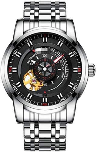 JDHFKS Los 24CM del Reloj Impermeable Reloj Diver Mechanical Man piloto automático Ejército Engranaje Suizo Pilot Sport Esqueleto de Steampunk de los Hombres