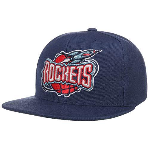 Mitchell & Ness Cappellino Wool Solid Rockets& Berretto Baseball NBA cap Taglia Unica - Blu Scuro