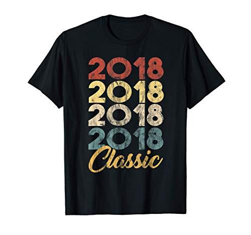3º Cumpleaños Nacido en 2018 Vintage 3 Retro Bday Regalo Camiseta