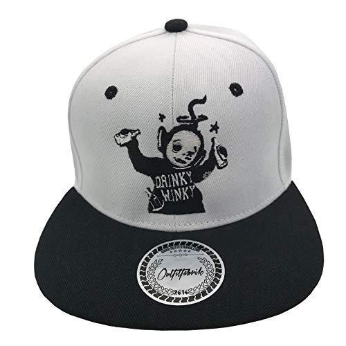 Outfitfabrik Snapback Cap Drinky Winky in weiß/schwarz