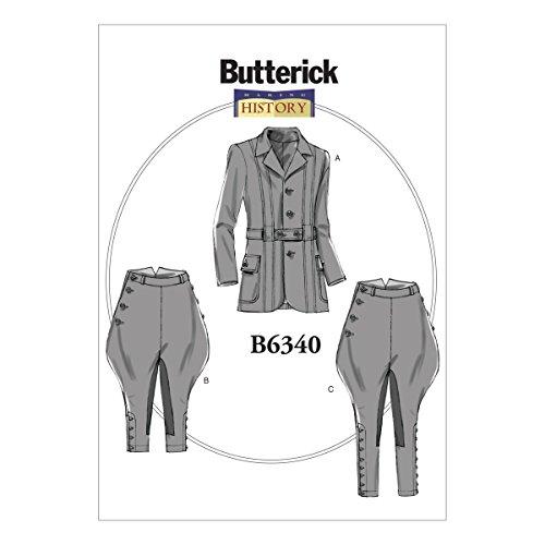 Butterick Patterns B6340 XM Jacke, Reithose und Reithose, Gr. S/M/L