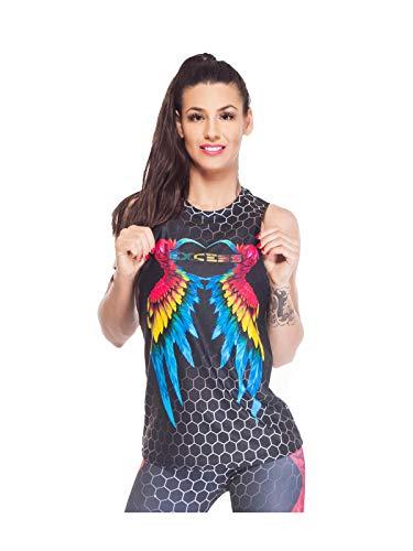 Excess Camiseta Deportiva Mujer Tank Top Tirantes Fitness Yoga Pilates Running Gimnasio...